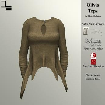 DE Designs - Olivia Top - Tan Fabric