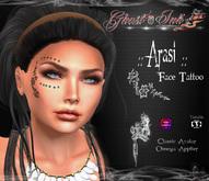 Face Tattoo   :: Arasi ::  ( BOM / Classic avatar + Omega Applier)