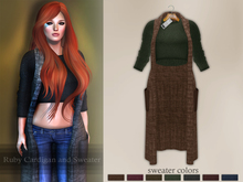 Bens Boutique - Ruby Cardigan and Sweater Brown