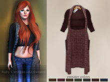 Bens Boutique - Ruby Cardigan and Sweater Burgundy