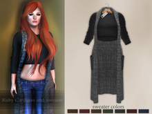 Bens Boutique - Ruby Cardigan and Sweater Gray