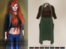 Bens Boutique - Ruby Cardigan and Sweater Green