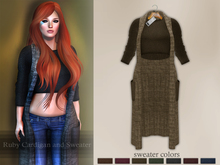 Bens Boutique - Ruby Cardigan and Sweater Khaki