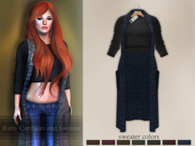Bens Boutique - Ruby Cardigan and Sweater Navy