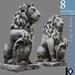 3D / Lion Gate Guard Statue / 8 land impact