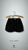 -Pixicat- Tilde Shorts Highwaisted (Black nr1)