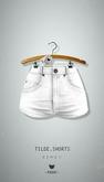 -Pixicat- Tilde.Shorts Highwaisted (White)
