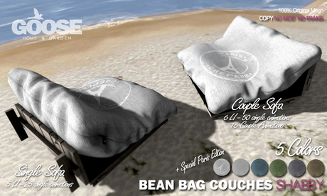 GOOSE - Bean Bag couch set shabby ( paris edition)