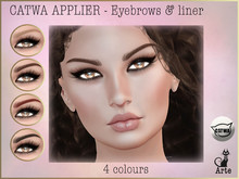 Arte - Catwa Applier - Sophisticated eyebrows & liners