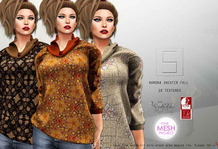 SHEY - Ramona Sweater Fall (10 Textures)