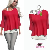Eyelure Double Tee   Solid Red