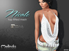 MELINDA*NICOLE TOP FITTED MESH white