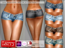 LARRY JEANS - 024S V-Cut Shorts - 6 Color Pack