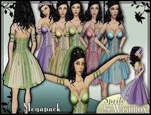 [Wishbox] Sprite Fairy Corset Dress (Megapack) - Medieval Fantasy
