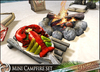 HeadHunter's Island - Tiki Mini Campfire set - 56+ multi-animations - with lobster - MESH