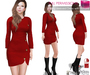 MESH BODIES & FITMESH 5 SIZES | Mesh Long sleeved Dress with Buttons FITMESH - Slink - Maitreya - Belleza