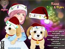 Xmas Hat & Puppy