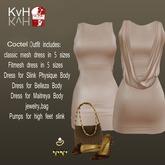 *KvH* New Year  Coctel Dress Beige (box)