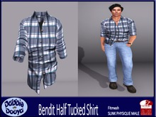 [DD]Bend It-SLINK Shirt-Blue Checked Demo