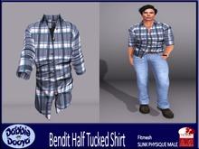 [DD]Bend It-SLINK Shirt-Blue Checked