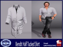 [DD]Bend It-SLINK Shirt-Grey Tattersall