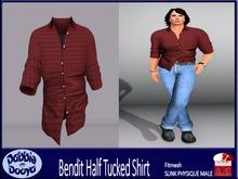 [DD]Bend It-SLINK Shirt-Rosewood Tattersall