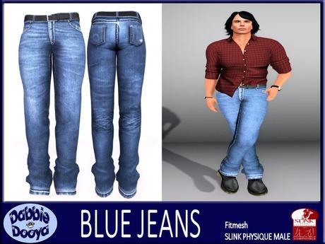 [DD] Mens SLink Fitted Jeans-Cobalt