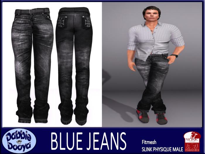 [DD] Mens SLink Fitted Jeans-Eerie Black