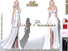 **Dirty Princess** Beautiful Society Princess Mesh Gown Snow For TMP, Maitreya & Slink Physique/Hourglass