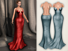 Bens Boutique - Pearl Gown Blue