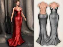 Bens Boutique - Pearl Gown Gray