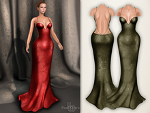 Bens Boutique - Pearl Gown Green