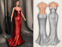 Bens Boutique - Pearl Gown White
