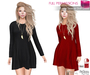 Ad long sleeve shift dress fitmesh