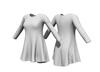 Long sleeve shift dress 2