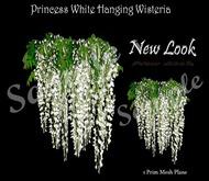 Princess Mesh Hanging White Wisteria 1 LI with Resizer and Fullbright Option