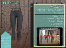 Addams - Womens Mesh Pants -Maitreya,Belleza,Slink,Clothing Mesh Pants Grecia- Black