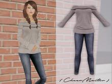 *CM* Off Shoulder & Skinny Jeans Outfit
