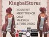 KS OUTFIT MERY TRENCHCOAT MARSALA&TUBE DRESS
