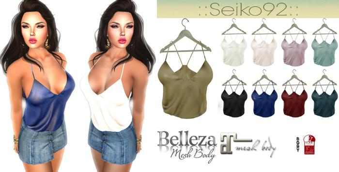 PROMO::Seiko92::Top Sensual [HUD]9COLOURS/Maitreya/Slink/Belleza/Fitmesh