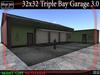 32x32 Triple Bay Garage/Office