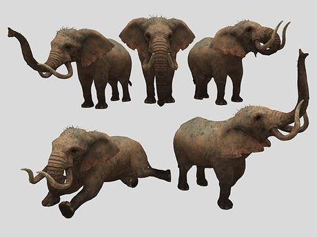 Elephant Pack - Mesh - Full Perm