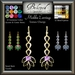 Beloved Jewelry : Mishka Earrings (Texture Change) Choice of Silver, Platinum, Gold, 12 Gems, Amethyst, Ruby