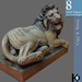 3D / Lion Statue / 8 land impact