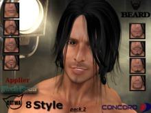 :::CONCORD::: Catwa Mesh head applier HUD - Beard black pack 2