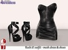 Stressless - Rock it! outfit Black (Mesh dress + Slink high heels)