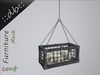 Decorative hanging cage with candles blue shabby chic1