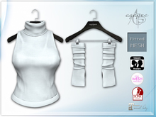 *agp* Bess turtle neck & armwarmers / white