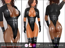 KARU KARU - Latex Suit Monique (BLACK)