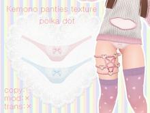 [Future Popp] kemono panties - polka dot